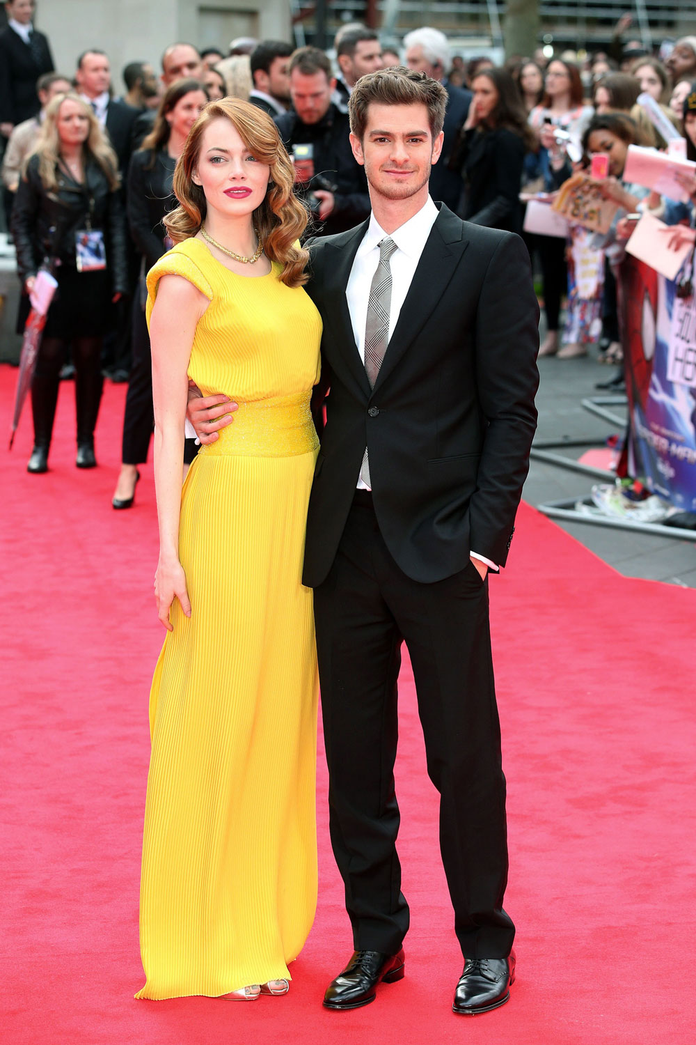Pairs Division Emma Stone And Andrew Garfield At Quot The