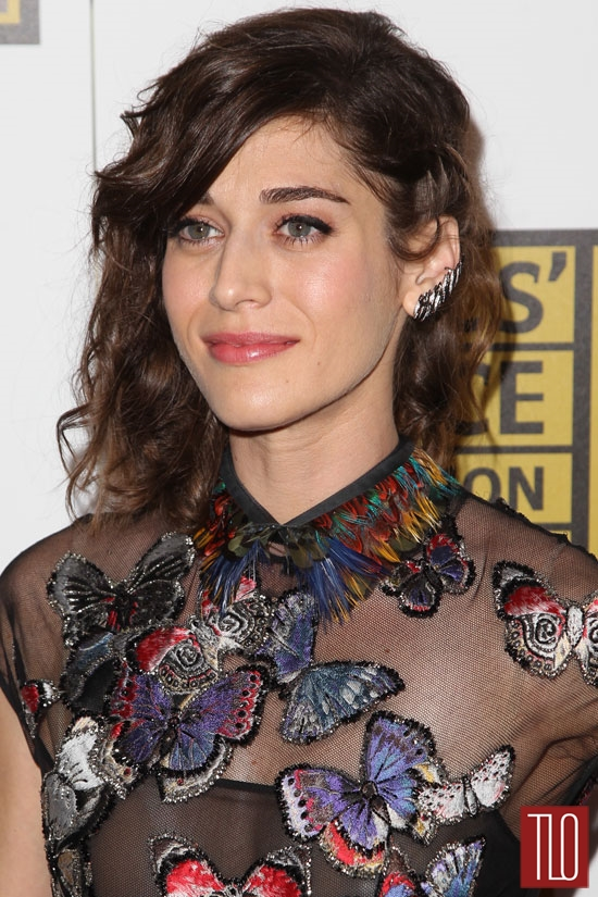 Lizzy Caplan in Valentino at the 2014 Critics' Choice ...
