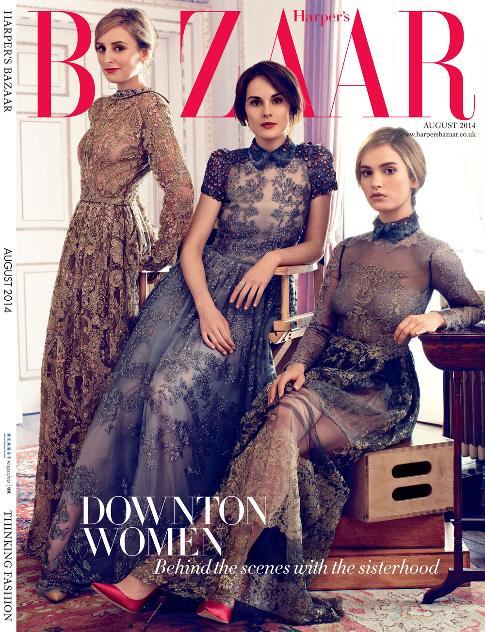 Harper-Bazaar-UK-August-2014-Downton-Abbey-Magazine-Editorials-Laura-Carmichael-Michelle-Dockery-Lily-James-Tom-Lorenzo-Site-TLO (1)
