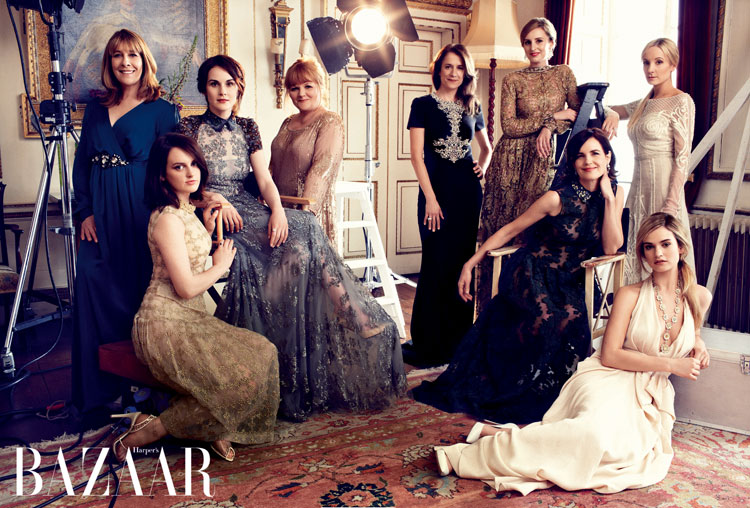 Harper-Bazaar-UK-August-2014-Downton-Abbey-Magazine-Editorials-Laura-Carmichael-Michelle-Dockery-Lily-James-Tom-Lorenzo-Site-TLO (6)