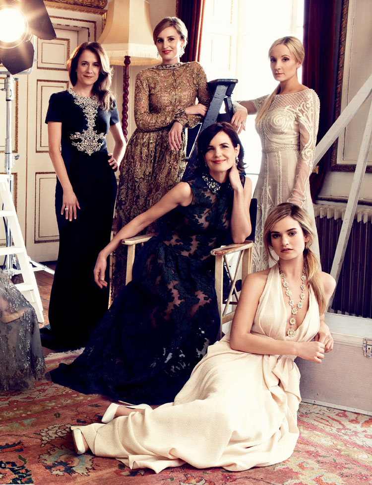 Harper-Bazaar-UK-August-2014-Downton-Abbey-Magazine-Editorials-Laura-Carmichael-Michelle-Dockery-Lily-James-Tom-Lorenzo-Site-TLO (8)