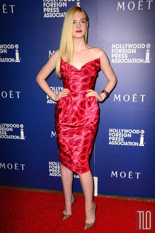 Elle Fanning In Vivienne Westwood At The 2014 Hfpa Grants