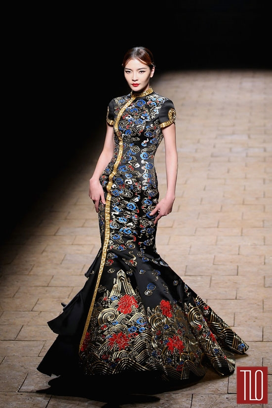China Fashion Week Spring 2015 Zhang Zhifeng Tom Lorenzo