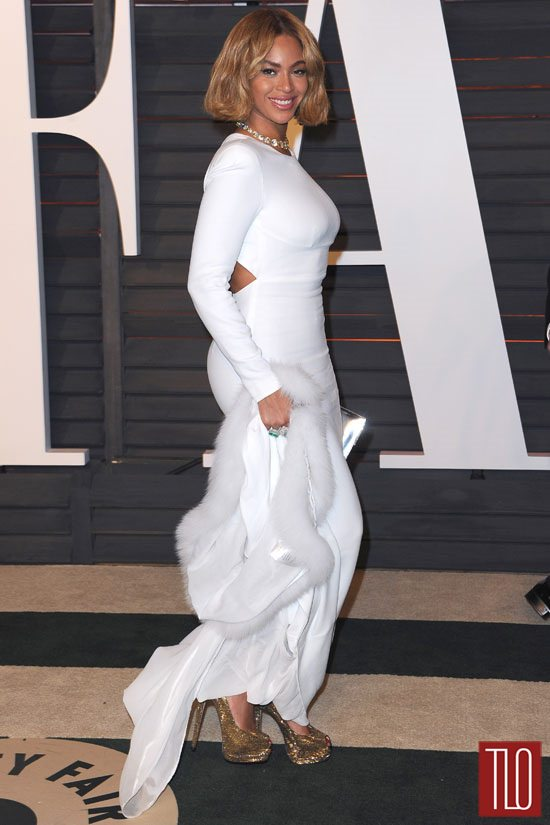 Beyonce In Stella Mccartney At The Vanity Fair Oscar Party