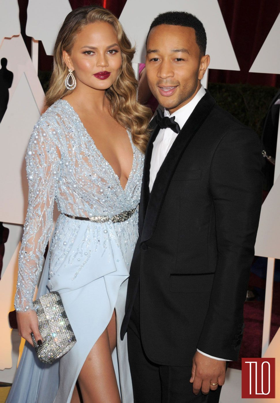 Chrissy Teigen and John Legend at the Oscars | Tom + Lorenzo Rosario Dawson