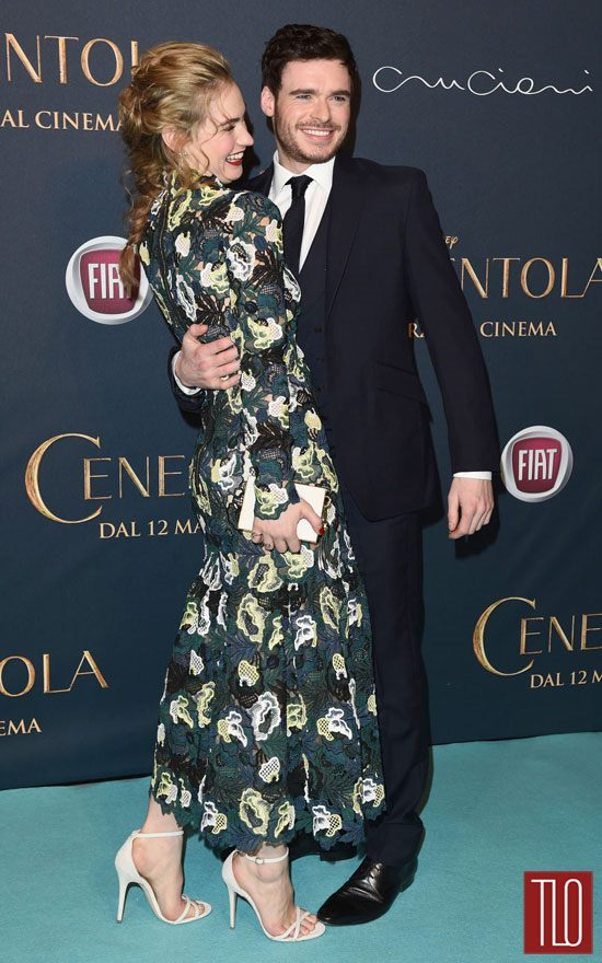Lily James And Richard Madden At Quot Cinderella Quot Milan
