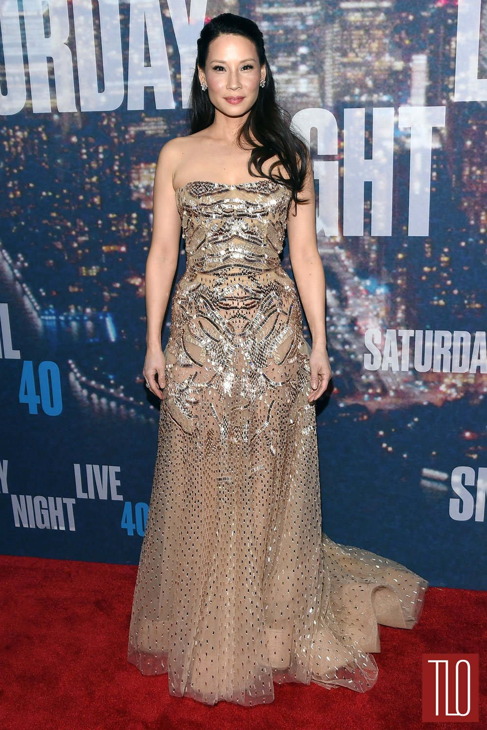 Lucy-Liu-SNL-40th-Anniversary-Celebration-Red-Carpet-Fashion-Zuhair-Murad-Couture-Fall-2015-Collection-Tom-Lorenzo-SIte-TLO (1)