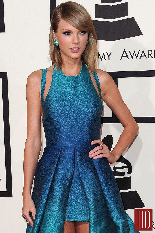 Grammys 2015: Taylor Swift in Elie Saab | Tom + Lorenzo