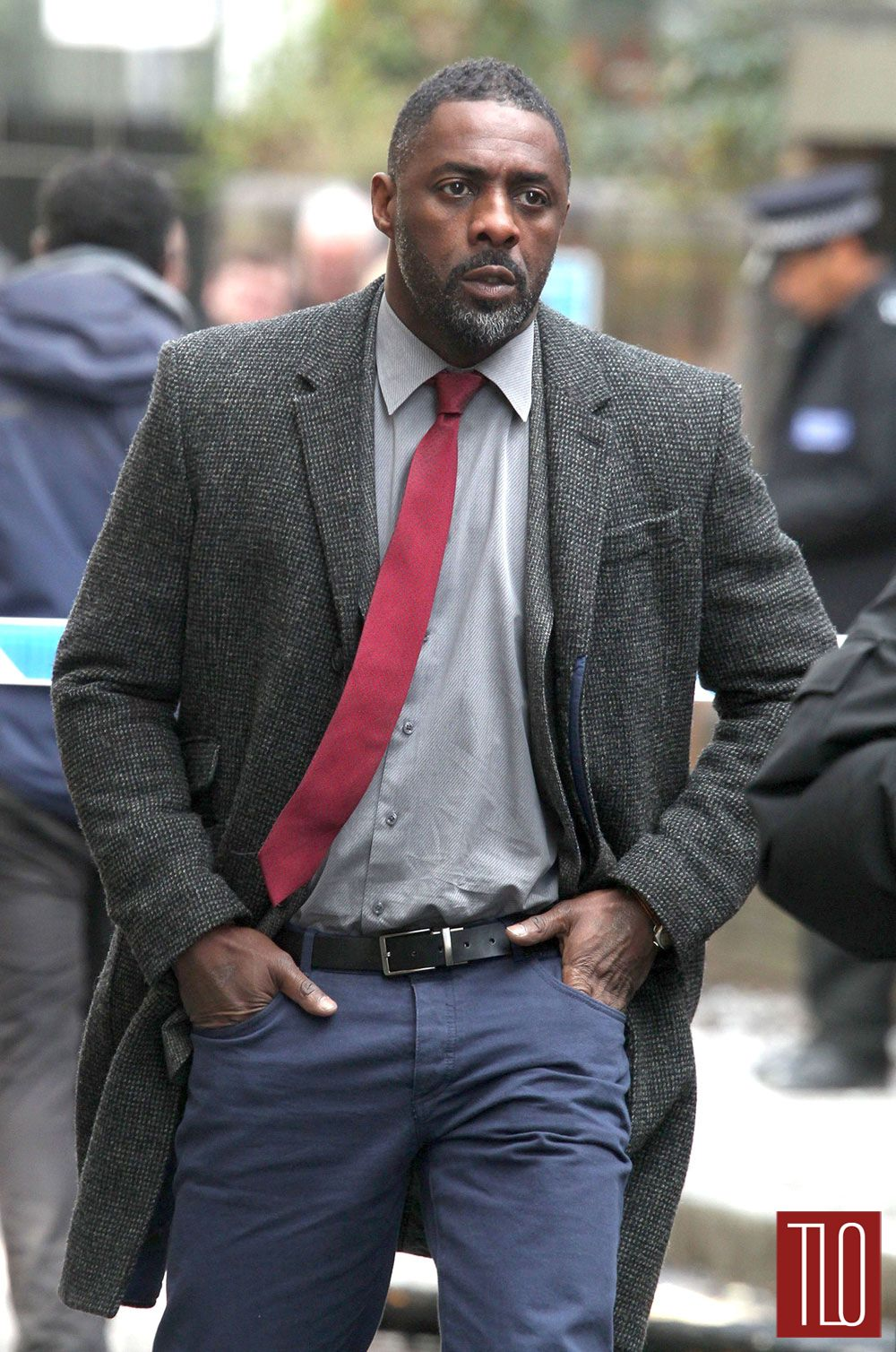 "Idris Elba on the Set of ""Luther"""