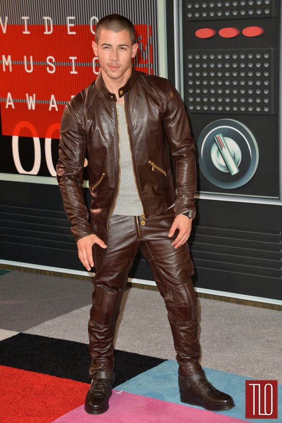 bbdf853e9cd Nick Jonas in Versace at the 2015 MTV Video Music Awards