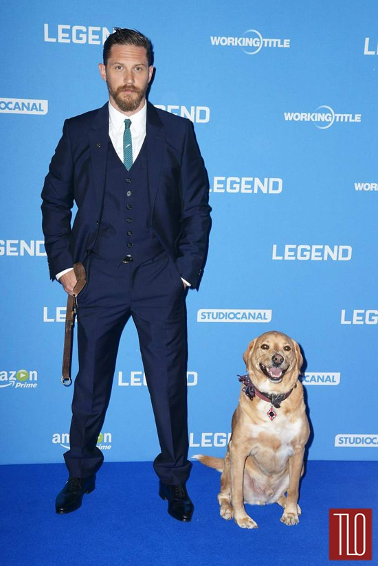 Tom Hardy And His Dog At The Quot Legend Quot Uk Premiere Tom