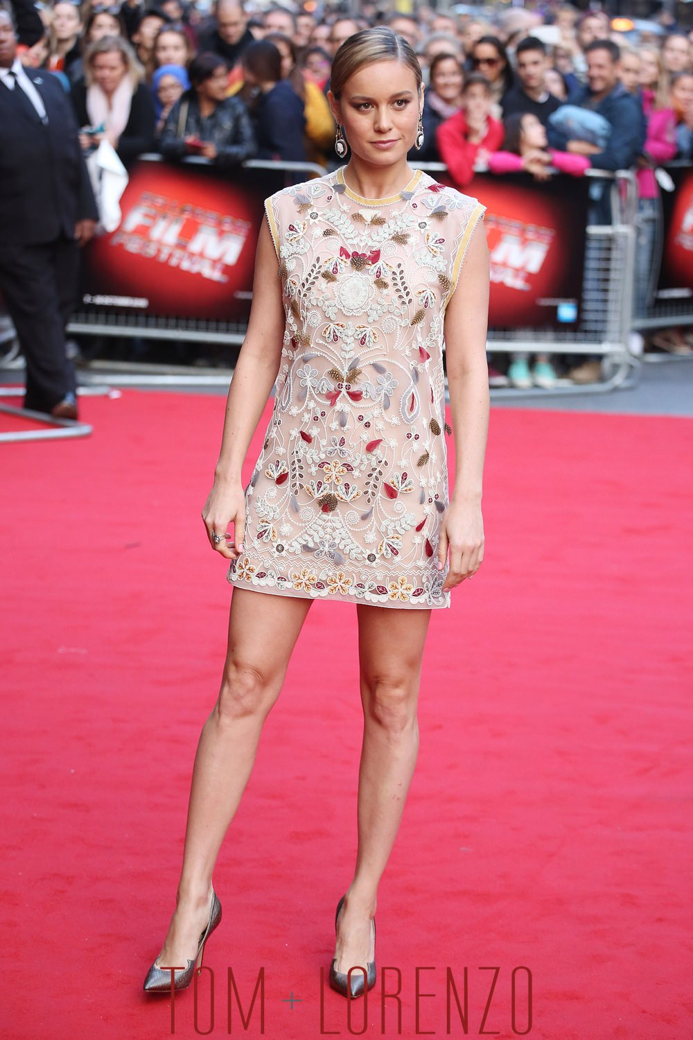 """Brie Larson in Valentino at the """"Room"""" BFI Screening"""