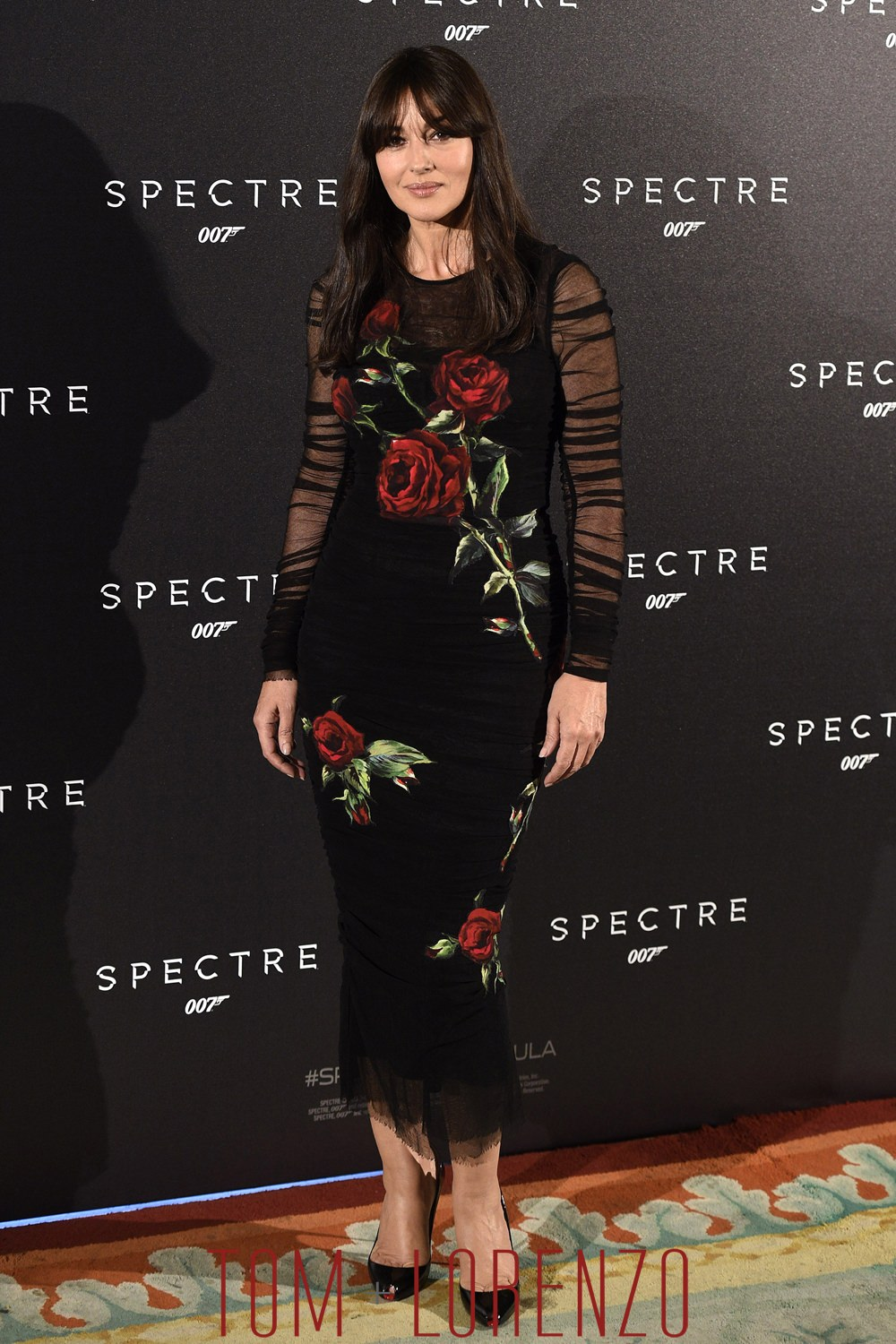 "Style Double Shot: Monica Bellucci at the ""Spectre"" Madrid ..."