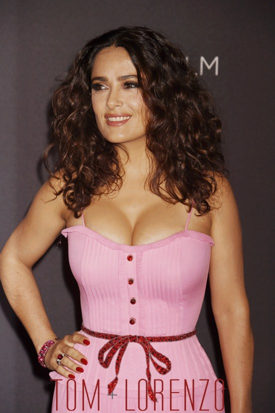 Salma Hayek In Gucci At The Lacma 2015 Art Film Gala Tom
