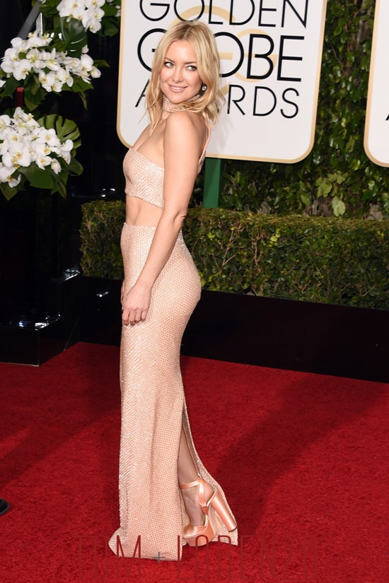 Golden Globes Kate Hudson In Michael Kors Tom Lorenzo
