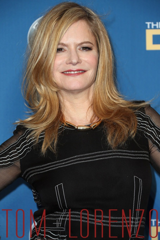Jennifer Jason Leigh in Burberry at the Directors Guild of ...