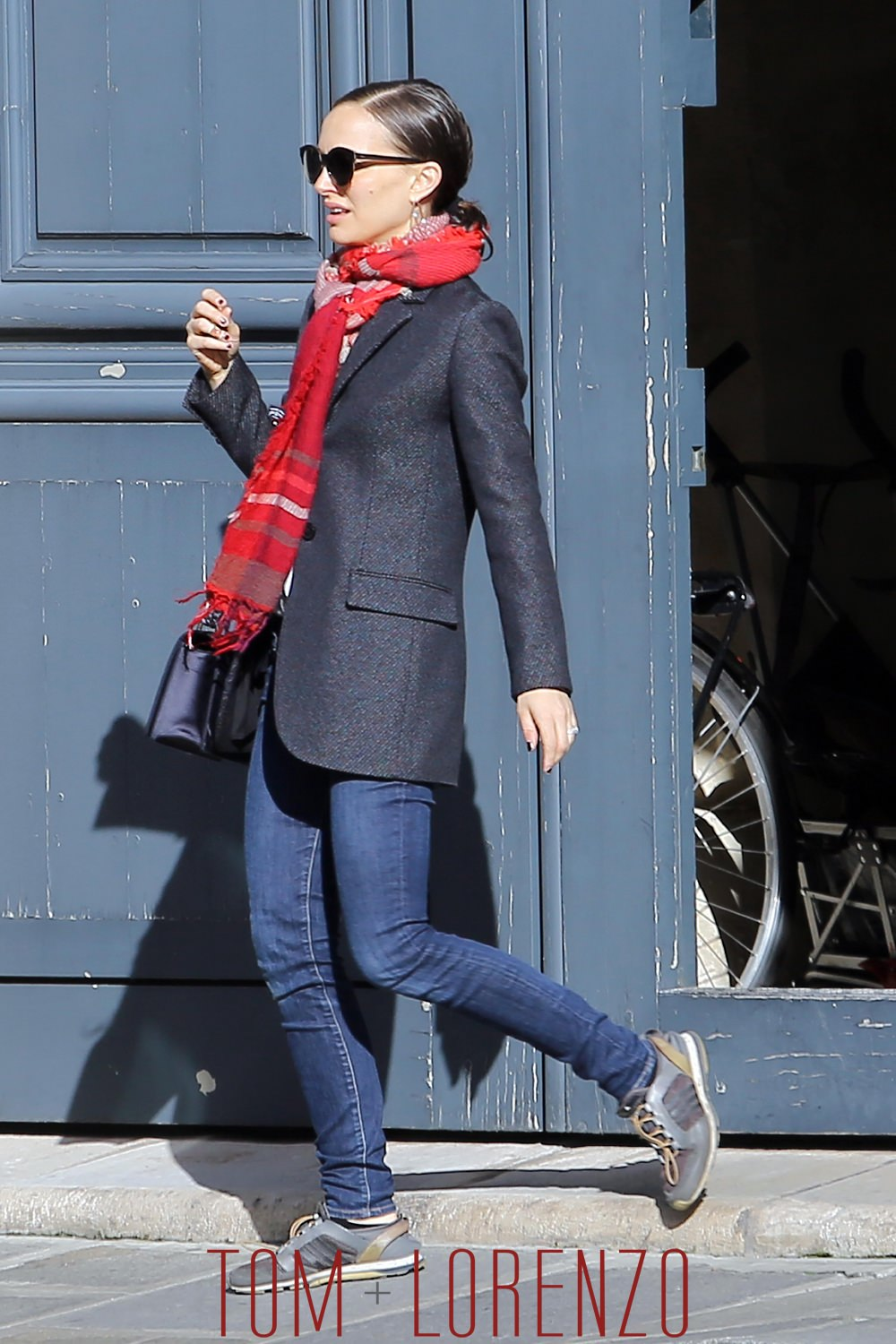 natalie portman out and about in paris tom lorenzo