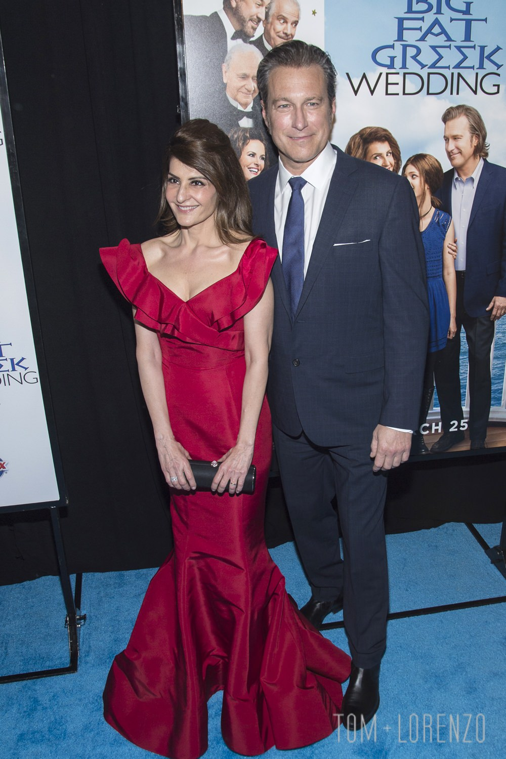 My Big Fat Greek Wedding 2.Nia Vardalos And John Corbett At The My Big Fat Greek