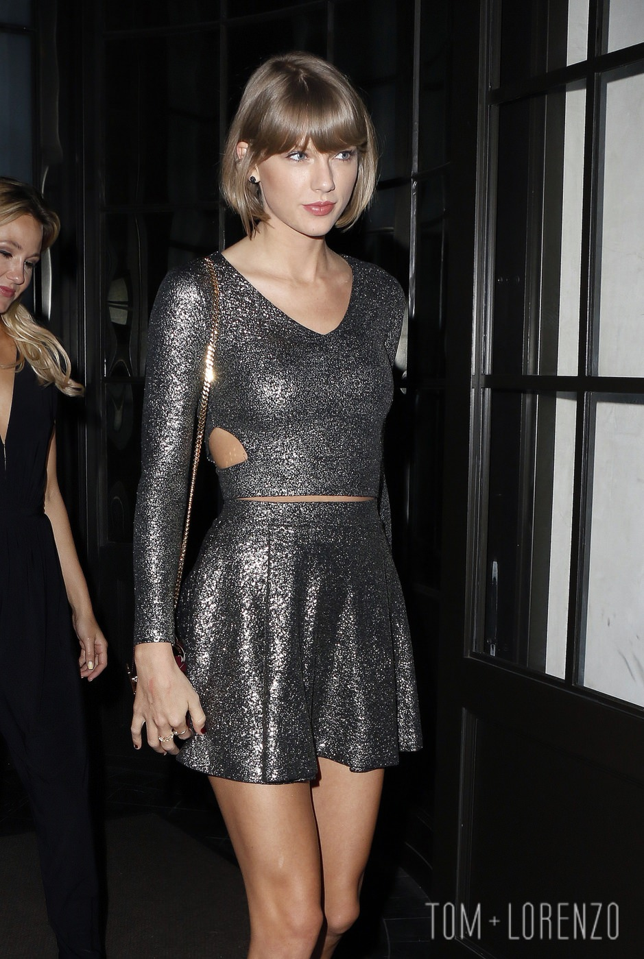 Taylor Swift in Aqua at Spago in Beverly Hills