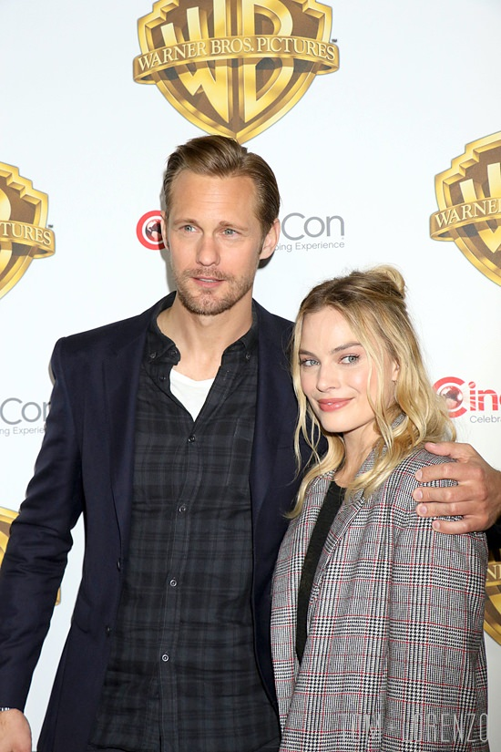 150576, Alexander Skarsgard and Margot Robbie attend 'The Big Picture' at The Colosseum Inside Caesar's Palace. Las Vegas, Nevada. Tuesday April 12th 2016. Photograph: © CPA, PacificCoastNews. Los Angeles Office: +1 310.822.0419 UK Office: +44 (0) 20 7421 6000 sales@pacificcoastnews.com FEE MUST BE AGREED PRIOR TO USAGE