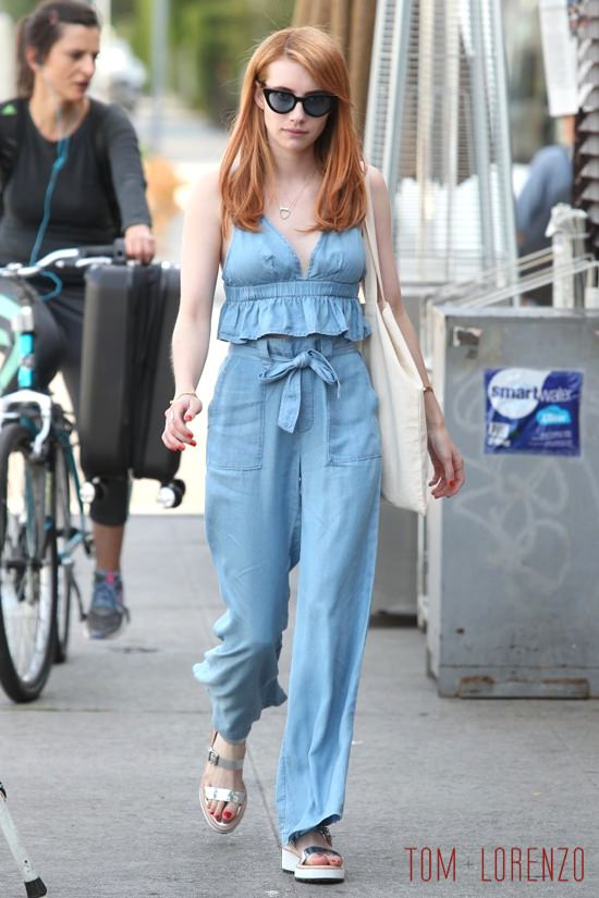 Emma Roberts Out And About In West Hollywood Tom Lorenzo