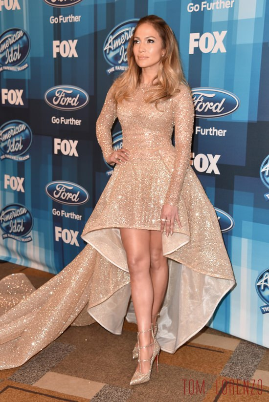 Jennifer Lopez In Yas Couture At The American Idol