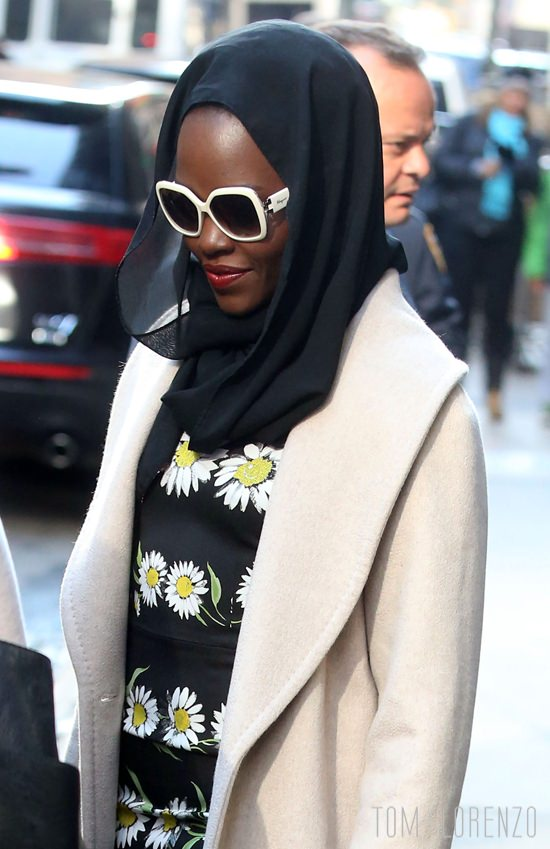 52023675 Celebrities stop by ABC Studios in New York City for an appearance on 'Good Morning America' on April 14, 2016. Celebrities stop by ABC Studios in New York City for an appearance on 'Good Morning America' on April 14, 2016. Pictured: Lupita Nyong'o FameFlynet, Inc - Beverly Hills, CA, USA - +1 (310) 505-9876
