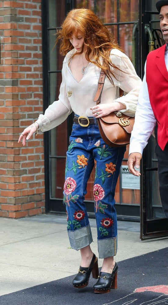 Florence Welch In Gucci In Nyc Tom Lorenzo