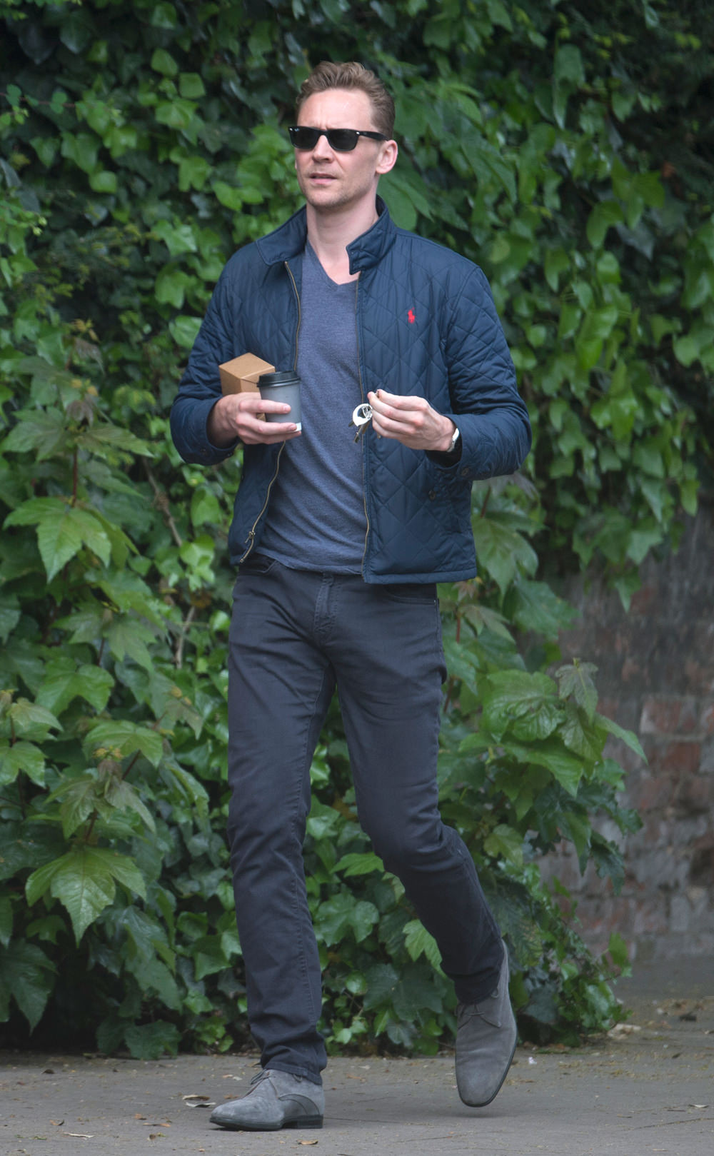 tom hiddleston out and about in central london tom lorenzo. Black Bedroom Furniture Sets. Home Design Ideas
