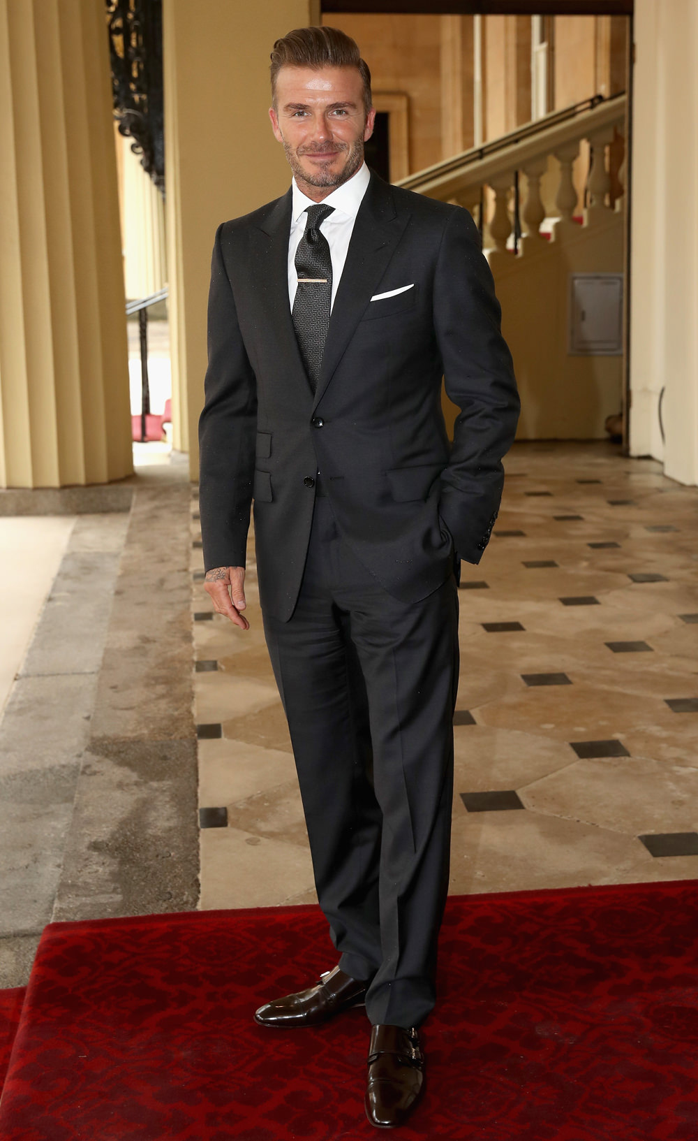 david beckham at the queen 39 s young leaders awards ceremony tom lorenzo. Black Bedroom Furniture Sets. Home Design Ideas