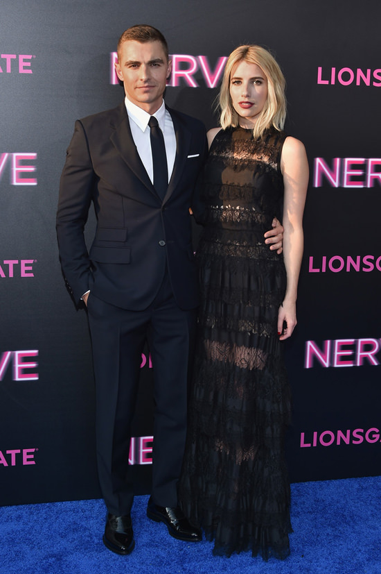 Dave-Franco-Emma-Roberts-Nerve-NY-Movie-Premiere-Red-Carpet-Fashion-Elie-Saab-Tom-Lorenzo-Site (2)