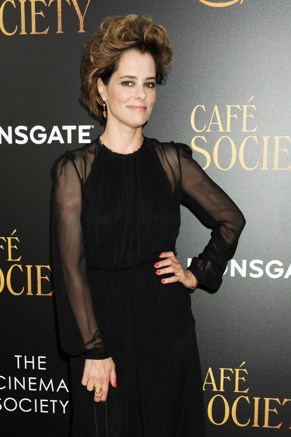 "parker posey in gary graham at the ""café society"" new york"