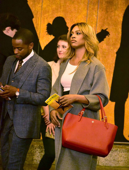 Laverne Cox And Dul 233 Hill On The Set Of Quot Doubt Quot Tom