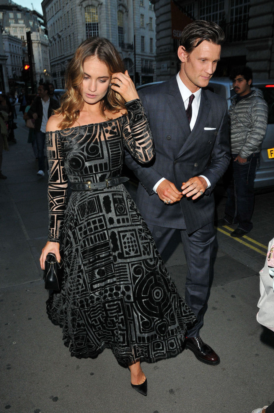 Lily-James-Matt-Smith-My-Burberry-Black-Campaign-Unveiling-Party-Fashion-Tom-Lorenzo-Site (1)