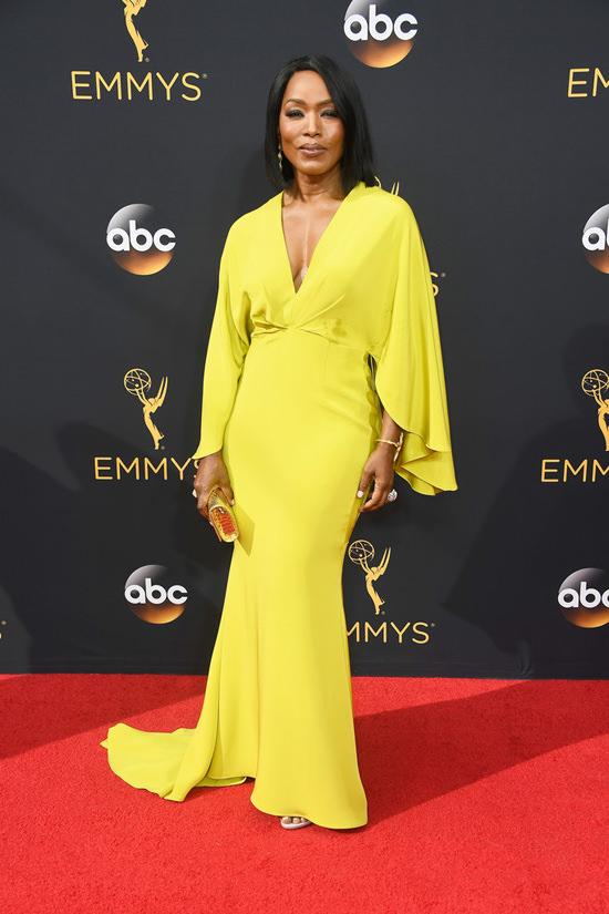 2016 Emmys Angela Bassett In Christian Siriano Tom
