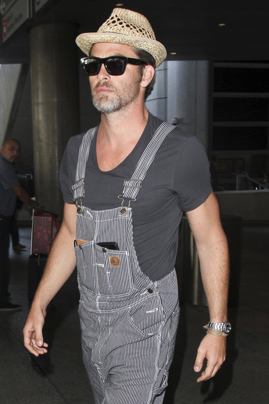 Chris Pine At Lax Tom Lorenzo