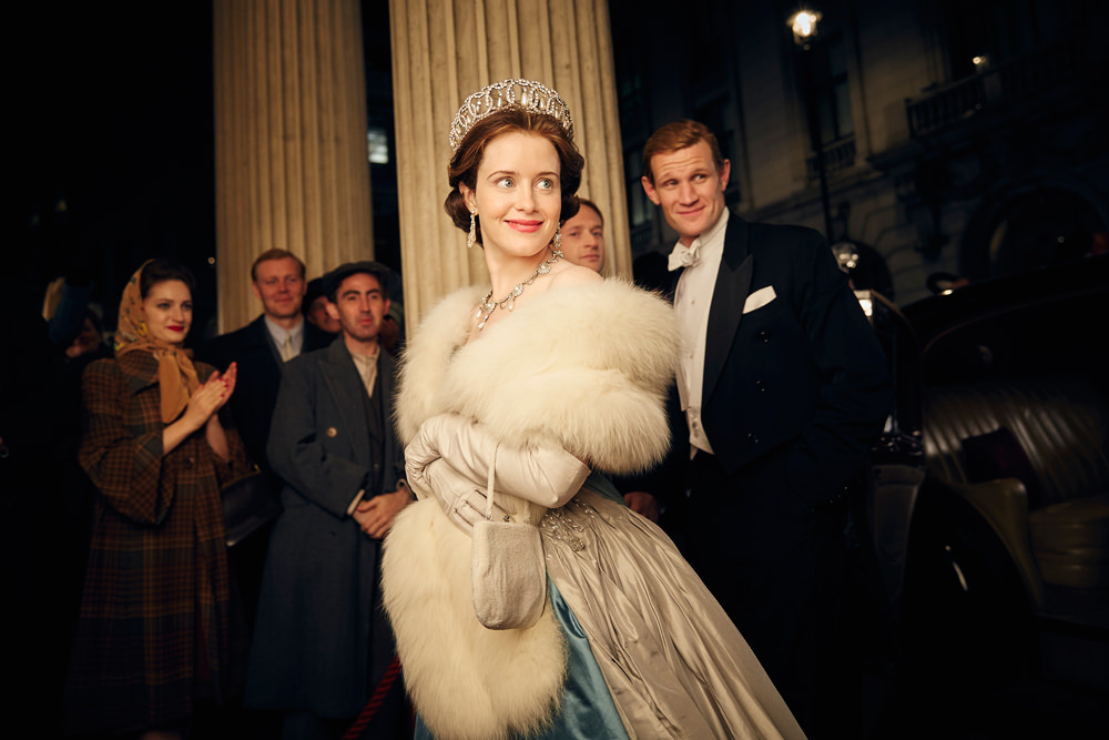 Claire Foy and Matt Smith sparkle as the royal couple