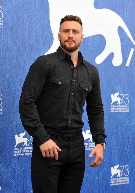 September 02, 2016: Aaron Taylor-Johnson arrive at the 73rd Annual Venice Film Festival in Venice, Italy. Mandatory Credit: INFphoto.com Ref: infitmi-05
