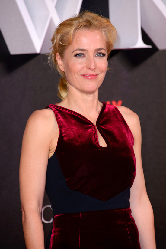 "Gillian Anderson sports the Perfect Holiday Frock at ""The ..."