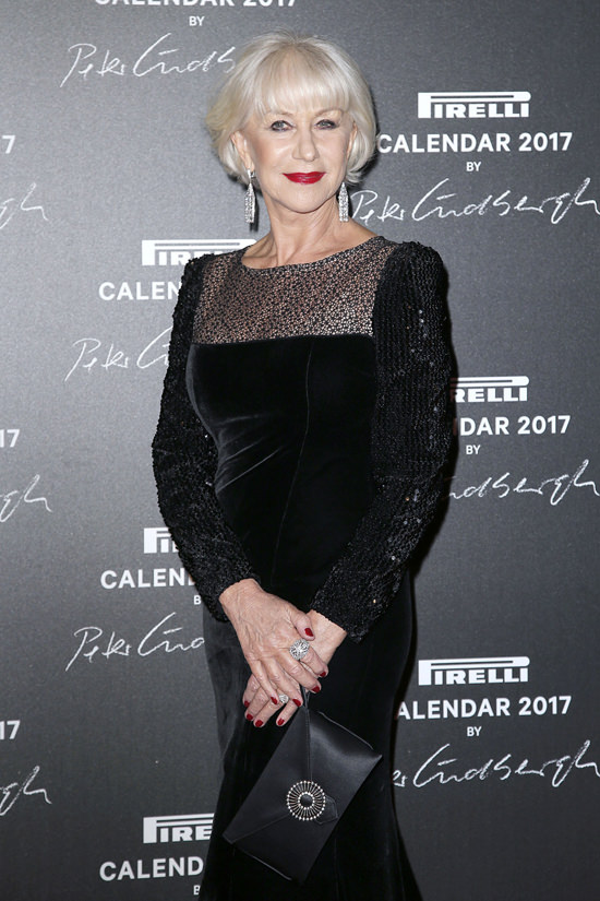 Helen Mirren in Jacques Azagury at the Pirelli 2017 ...