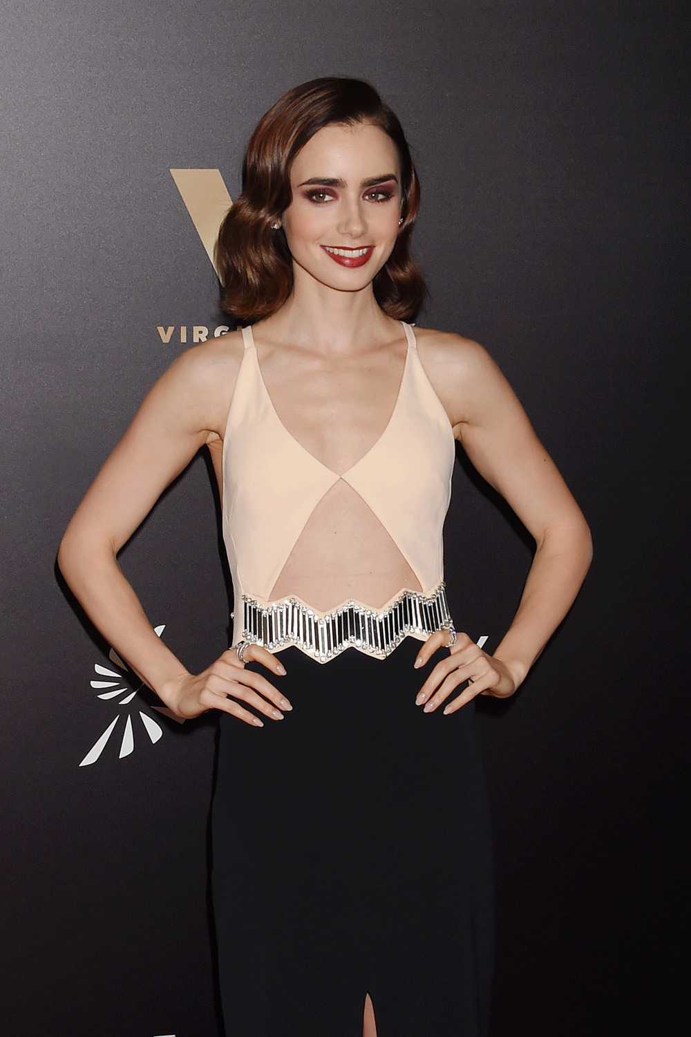 We're trying to be open about Lily Collins' Dress at the ...