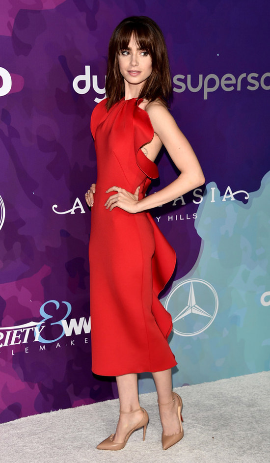 Lily Collins is a Lady...
