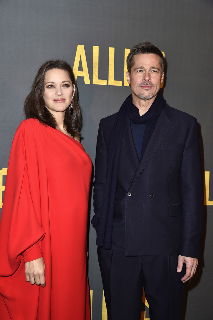 Marion Cotillard And Brad Pitt Grimly Attend The Allied Paris