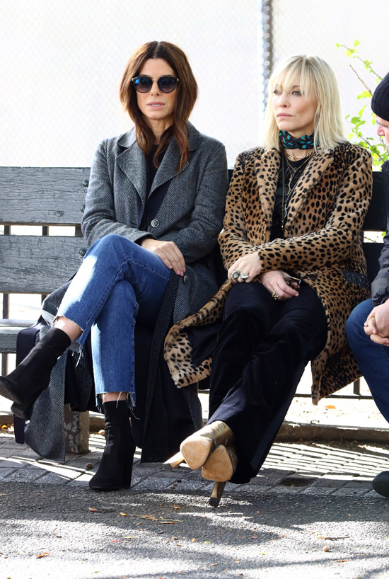 October 31, 2016: Sandra Bullock, Cate Blanchett on the set of the new movie 'Ocean's Eight' in New York City. Mandatory Credit: Zelig Shaul/ACE/INFphoto.com Ref.: infusny-220