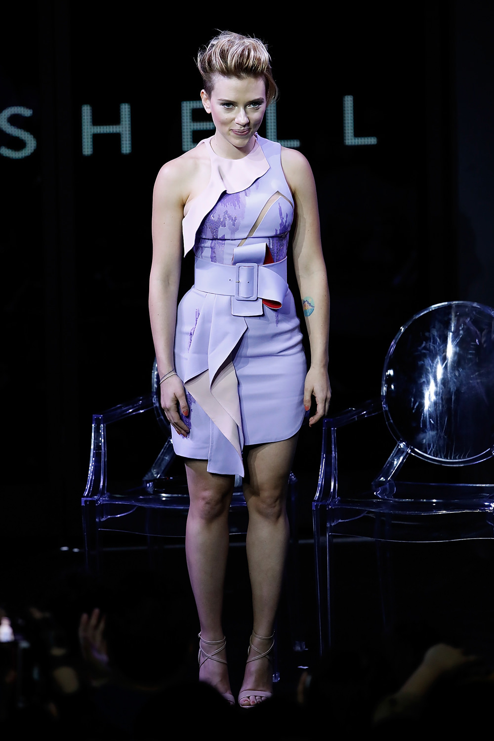 Come Hell Or High Water Scarlett Johansson Was Getting To The Ghost In The Shell Trailer Launch Tom Lorenzo