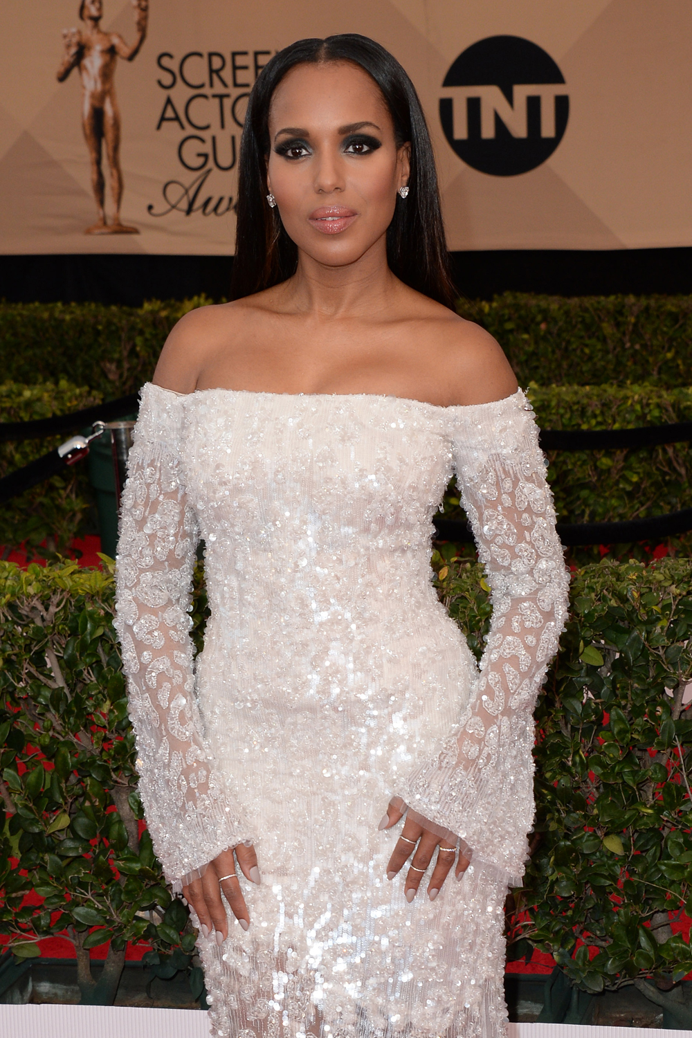 70c3613261 Kerry Washington in Roberto Cavalli Couture at the SAG Awards  IN or OUT