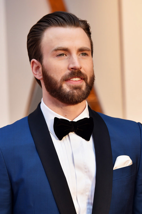 Oscars 2017: Chris Evans is Your Bearded Boo in Blue | Tom ...