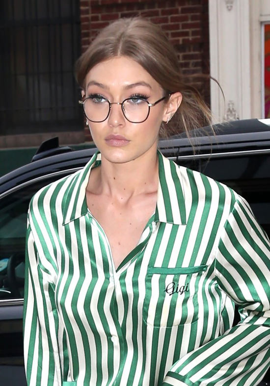 Gigi Hadid Takes The Pajama Trend As Far As It Can Go