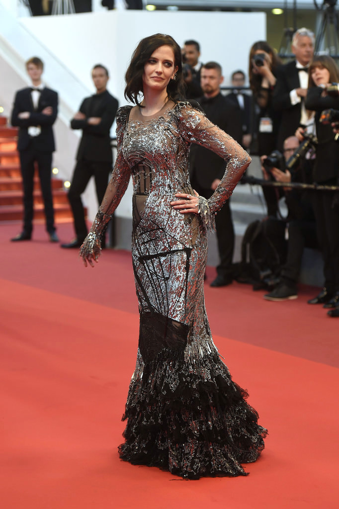 Eva Green in Alexander McQueen at the Cannes Film Festival ...