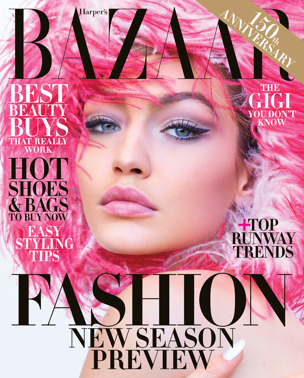 Gigi Hadid Covers the June/July 2018 Issue of Harper's ...